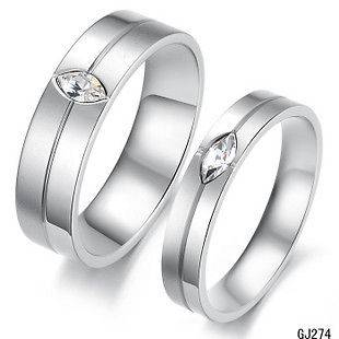 Men Women Love Stainless Steel High Polished Gift Ring Couples Ring