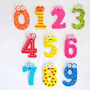 Wooden Fridge Magnets Child Educational Toy Set kid gift mini