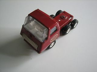 VINTAGE Mini Tonka Red Semi Tractor Truck Metal Pressed Steel 1970s