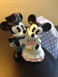 Disney China Mickey & Minnie Porcelain Wedding Cake Topper