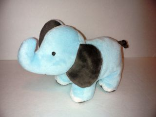Adorable Carters Baby Blue Brown ELEPHANT Bean Bag Plush Stuffed