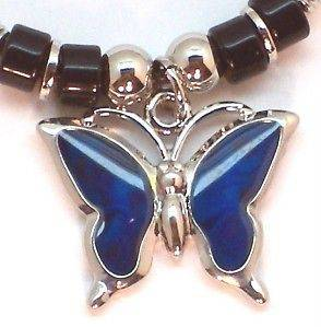 New Mood Color Change Butterfly Pendant Necklace Gift Boxed