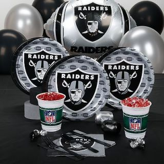 OAKLAND RAIDERS NFL FOOTBALL BIRTHDAY PARTY CELEBRATION PACK KIT