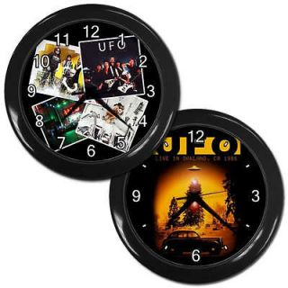 New Wall Clock Black Decor Art UFO grow rock vintage