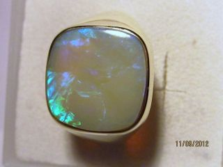 black opal mens rings