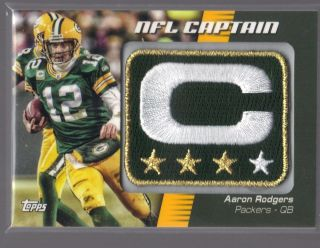 2012 Topps Football Aaron Rodgers PACKERS NFL Captains LOGO PATCH #
