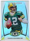 2012 TOPPS PLATINUM AARON RODGERS BASE CARD #20 GREEN BAY PACKERS