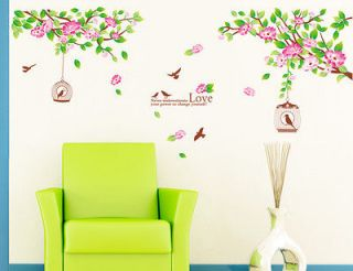 Flower Tree Removable Wall Sticker Flower Room Decor DecalHOT