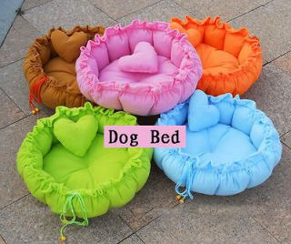 Cute Pet Dog Cat Bed House Sofa Kennel Cushion +Pillow 5 Colors 2