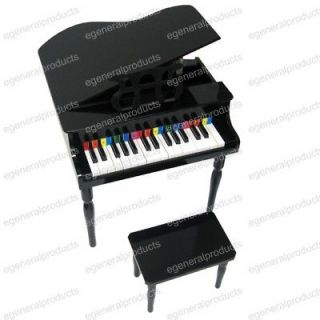NEW 30 KEY CHILDREN BABY GRAND PIANO BLACK BENCH INCLUD