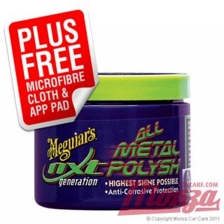 Meguiars NXT All Metal Polish for Car Alloy & Chrome Wheels **COMPLETE