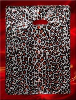 100 PC Leopard Print Fashion Poly/Plastic Retail Shopping Gift Bag NEW