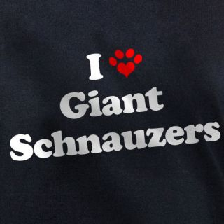 LOVE GIANT SCHNAUZERS T SHIRT puppy dog owners gift