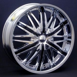 20 Wheels Rims Package FREE TIRES VELOCITY V830 CHROME + BLACK 5X100