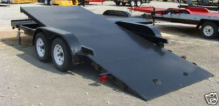 NEW 18 CAR HAULER TILT BED 7000LB TRAILER STEEL FLOOR
