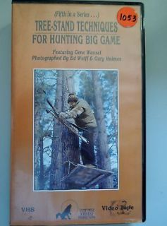 Tree Stand Techniques for Hunting Big Game Whitetail Deer VHS VCR