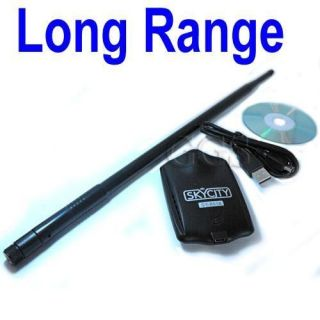 Gain High Power Long Range USB Wireless WIFI Adapter +9dBi Antenna