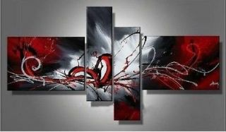 Hot sell new 4pc Huge WALL Modern Abstract on Canvas decorative Oil
