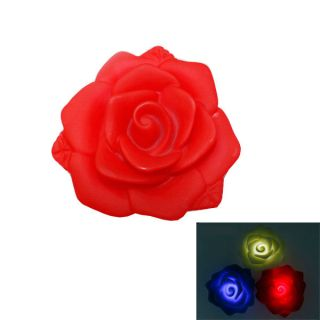 Rose Flower Water Activated Floating LED Light for Garden Swim Pool