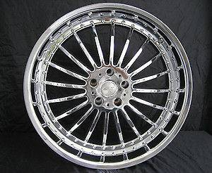 19 ALT 334 chrome staggered wheels and tires package