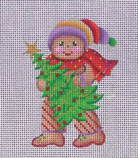 ACOD Christmas Gingerbread Handpainted Needlepoint Canvas 91