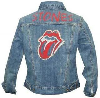 Rolling Stones Blue Denim Jacket Women Authentic BRAND NEW