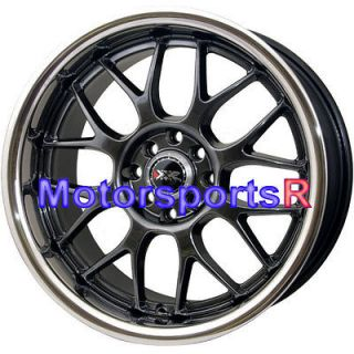 17 17x9 XXR 006 Chromium Black Rims wheels 4x114.3 Stance 89 94 Nissan