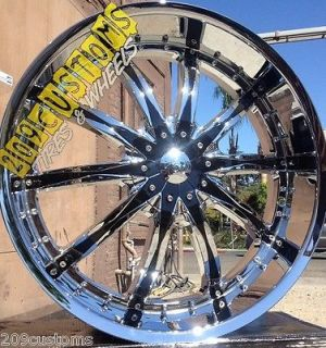 22 22 INCH VCT ABRUZZI WHEELS RIMS TIRES CHRYSLER 300 CHEVELLE CAMARO