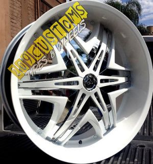 24 24 INCH RIMS WHEELS TIRES DIABLO ELITE WHITE CHARGER CAMARO