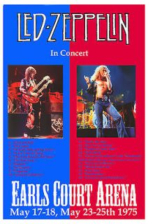 Classic Rock Led Zeppelin at Earls Court Arena UK Concert Poster