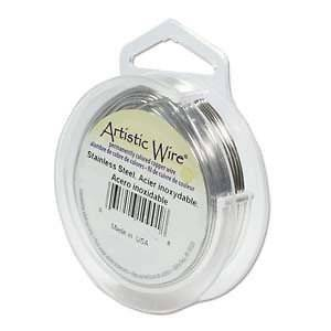 Artistic Wire Stainless Steel 22 Gauge 15 yards 41891 Round Shiny