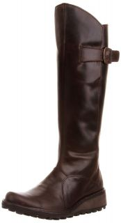 Fly London Womens Mol Dark Brown New Leather Long Boots