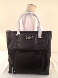 NWT KATE SPADE BAXTER STREET PRISCILLA BLACK LEATHER HANDBAG TOTE BAG