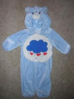 CARE BEARS Grumpy Bear Soft Furry Childs Halloween Costume Size 1 2
