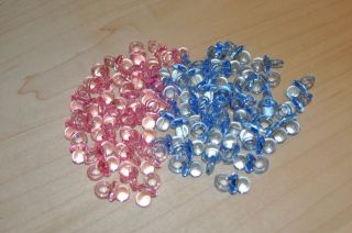 50 MINI PACIFIERS BABY SHOWER FAVORS  PINK OR BLUE