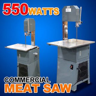 Commercial 550W Electric Automatic Meat Bone Saw Slicer w/Meat Grinder