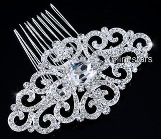 Bridal Wedding Art Deco Vintage Style High Quality Flower Hair Comb