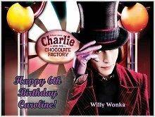 Willy Wonka #2 Edible CAKE Icing Image topper frosting birthday party