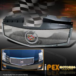 CADILLAC CTS CT S Chrome Mesh Grille Grill w/OEM EMBLEM(Fits Cadillac