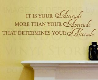Wall Decal Sticker Quote Vinyl Art Removable Attitude is Most