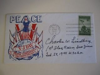 Charles W. Lindberg SIGNED AUTOGRAPHED First Day Cover Iwo Jima A