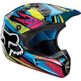 green blue m fox racing v1 undertow youth helmet chaparral