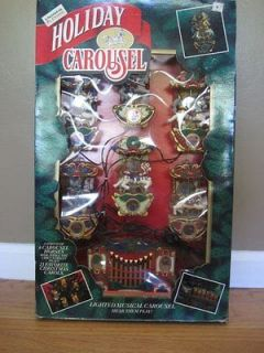 Mr Christmas Holiday Carousel Lighted Musical Carousel Horses Plays