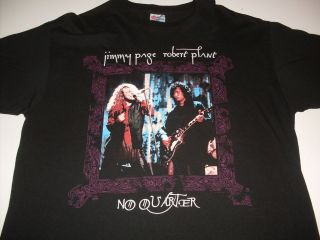 RARE JIMMY PAGE & ROBERT PLANT NO QUARTER WORLD TOUR 1995 TEE SHIRT