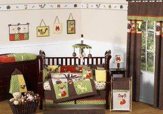 DEER TREE FOREST THEMED 9p BABY BOY CRIB BEDDING SET ROOM COLLECTION