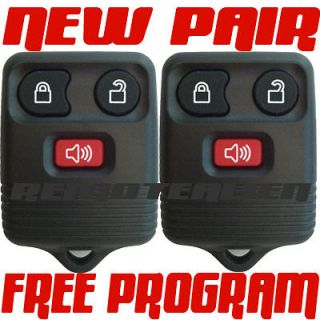 PAIR NEW 3 BUTTON FORD KEYLESS ENTRY REMOTE KEY FOB TRANSMITTER ALARM