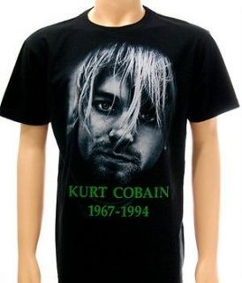 Nirvana Kurt Cobain Rock 1967 1994 Alternative T shirt Sz M Tour