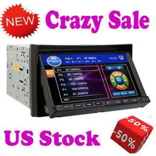 Double 2 Din 7 In Dash LCD Car Stereo DVD CD Radio /4 Player Touch