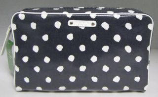 Spade Large Henrietta Cosmetic Bag Dizzy Dot Make Up Case Navy New