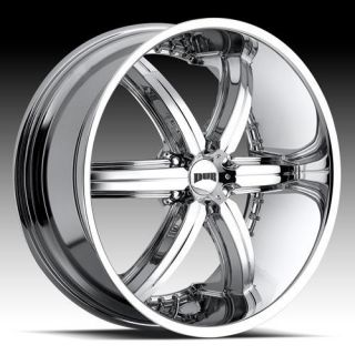 22 DUB Bomber 6 Chrome WHEELS 22 inch 22x9.5 RIMS Set